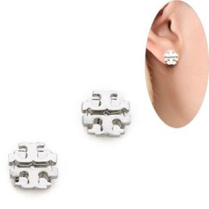 AUTHENTIC Tory Burch // silver stud earrings
